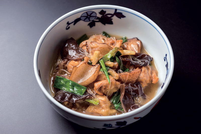 れんこんと鶏肉の春雨・ねぎ・生姜煮込み